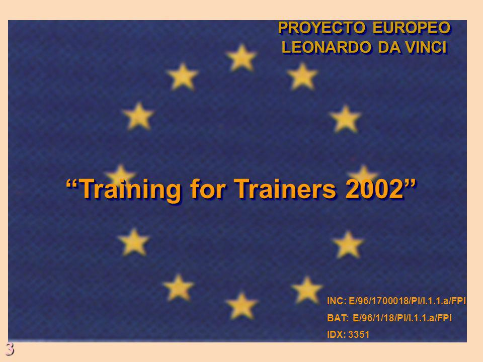 Training for Trainers 2002