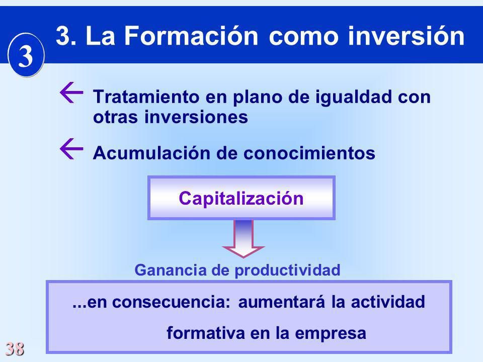 3. La Formación como inversión