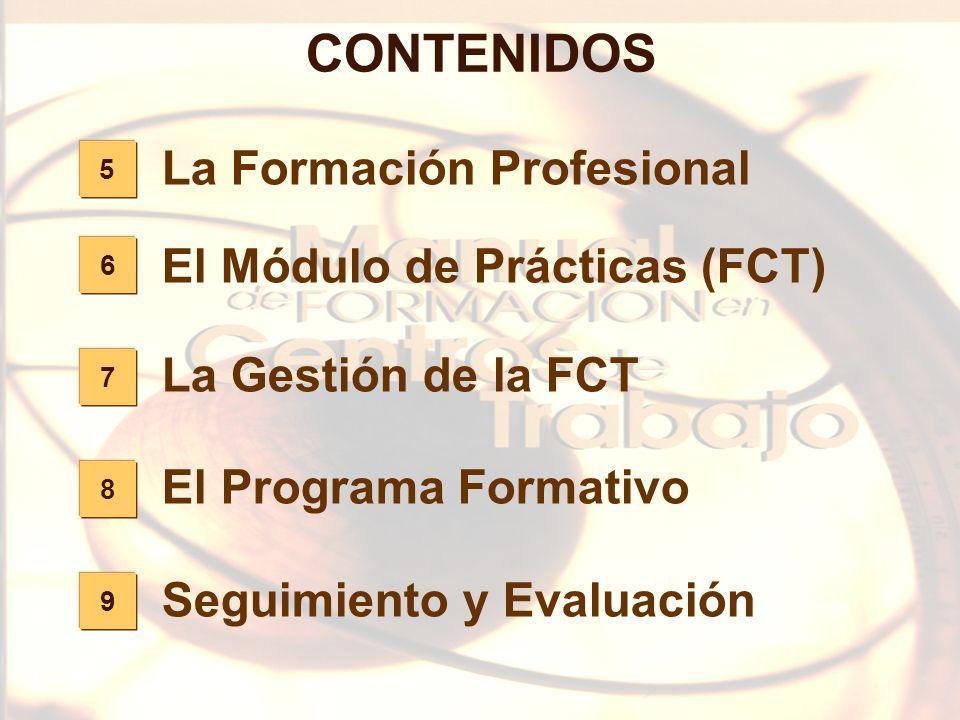 CONTENIDOS La Formación Profesional El Módulo de Prácticas (FCT)