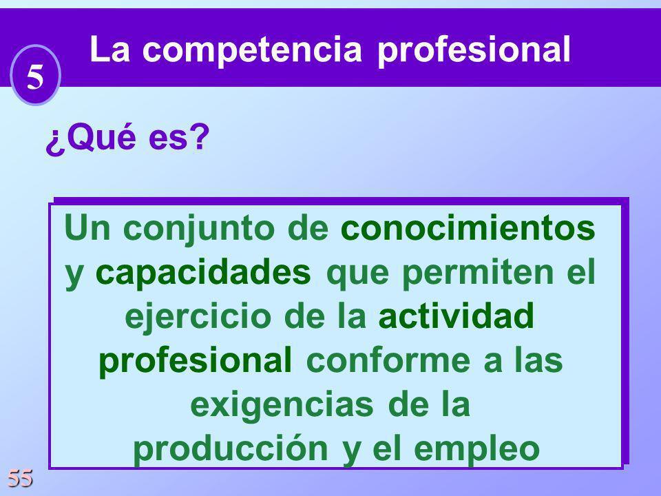 La competencia profesional 5