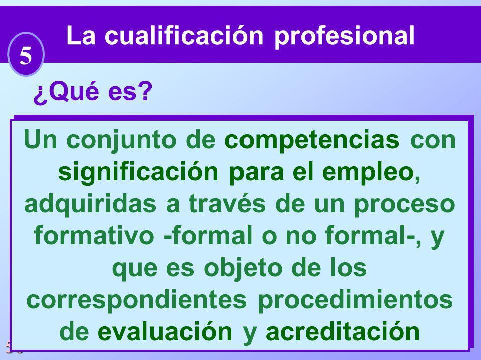 La cualificación profesional Un conjunto de competencias con
