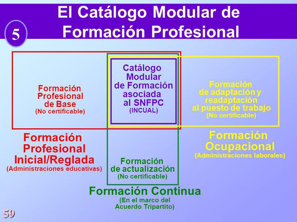 El Catálogo Modular de Formación Profesional 5