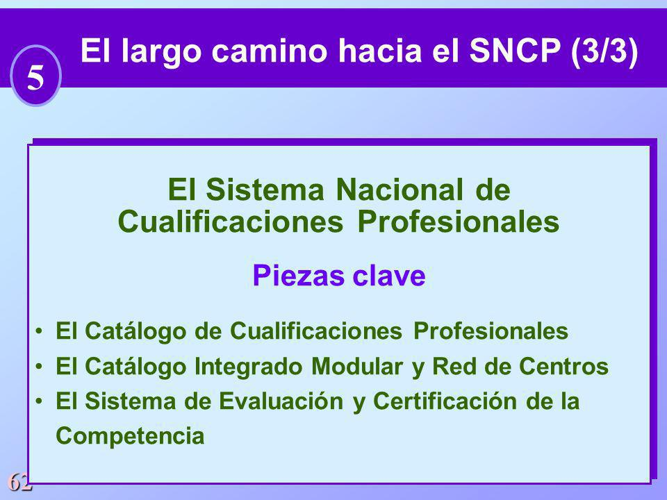 El largo camino hacia el SNCP (3/3) Cualificaciones Profesionales