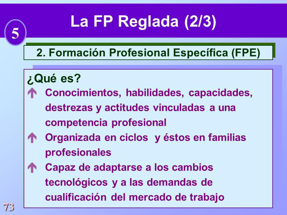 2. Formación Profesional Específica (FPE)