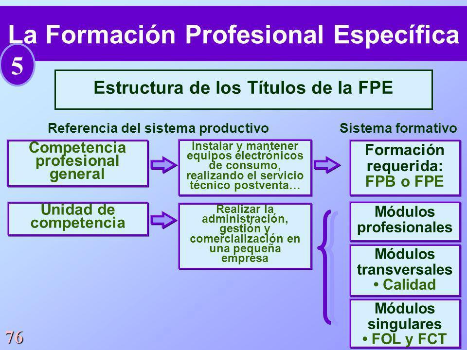 La Formación Profesional Específica 5