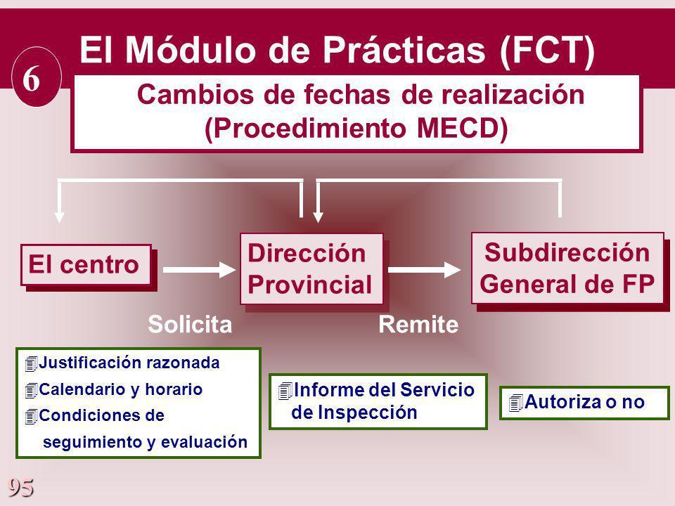 El Módulo de Prácticas (FCT) 6