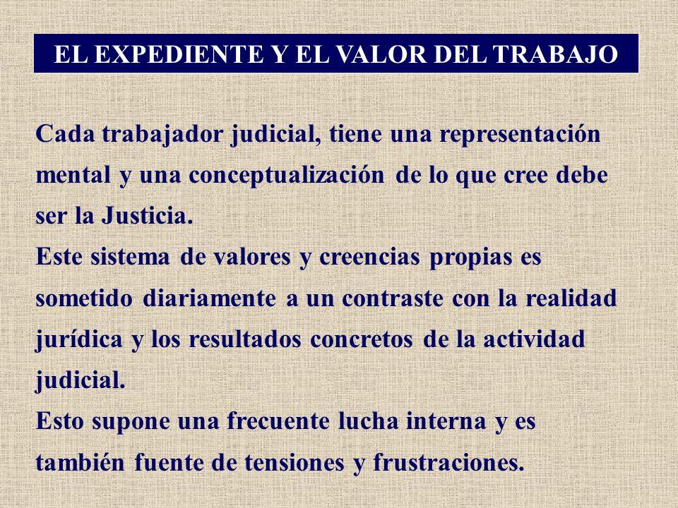 EL EXPEDIENTE Y EL VALOR DEL TRABAJO