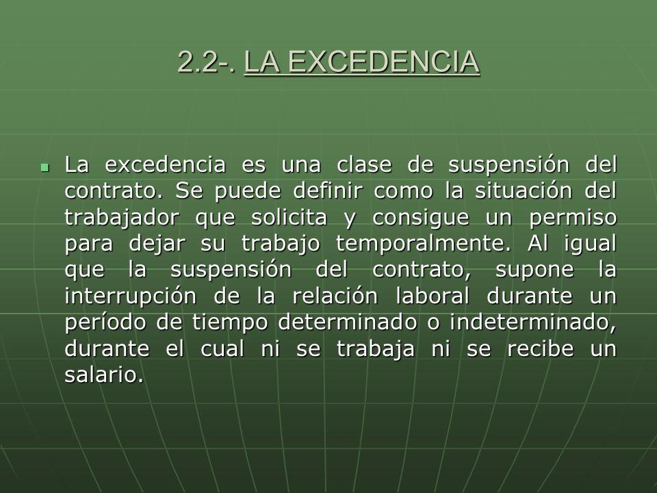 2.2-. LA EXCEDENCIA