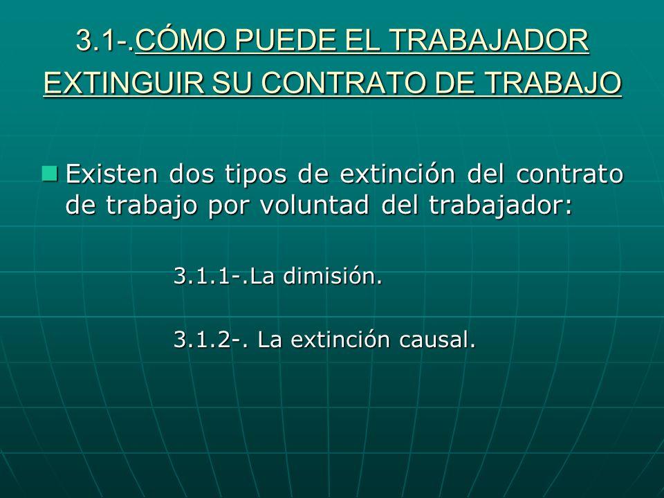 3.1-.CÓMO PUEDE EL TRABAJADOR EXTINGUIR SU CONTRATO DE TRABAJO