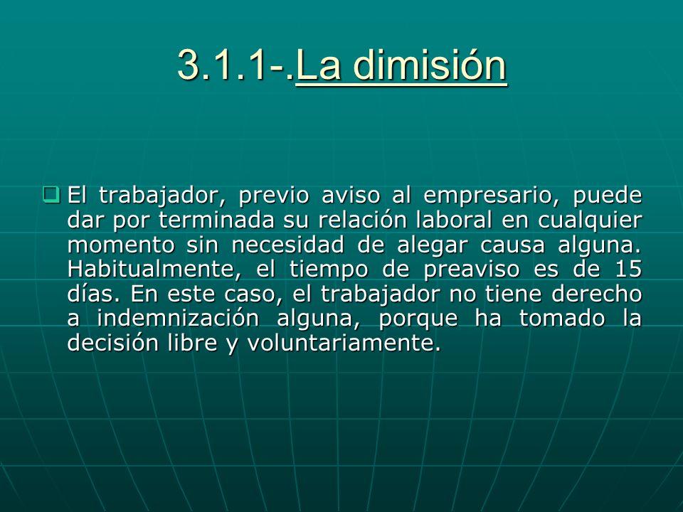 3.1.1-.La dimisión