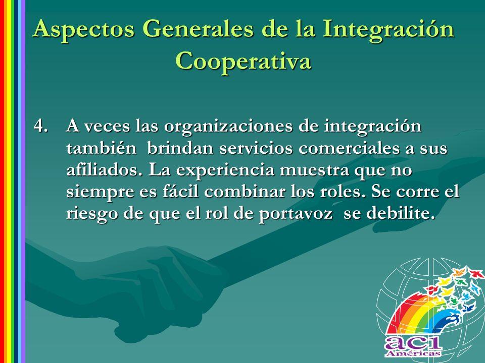 Aspectos Generales de la Integración Cooperativa