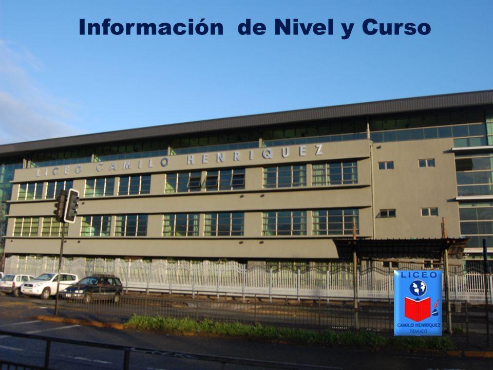 Información de Nivel y Curso