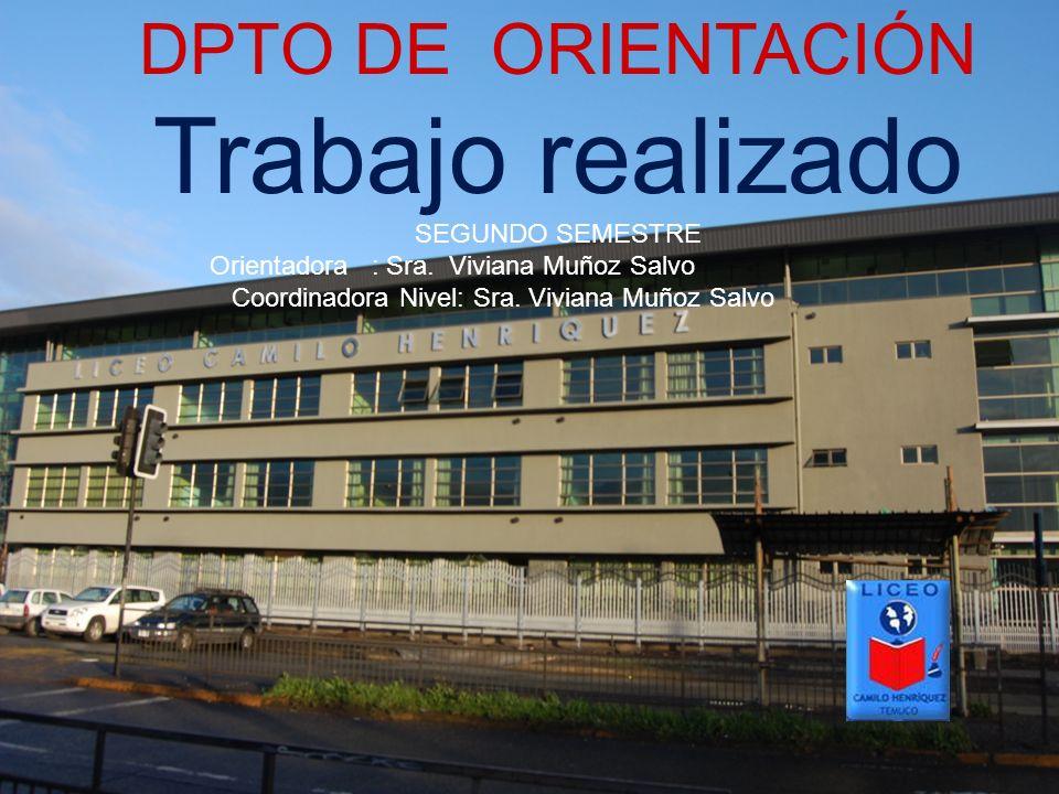 Trabajo realizado DPTO DE ORIENTACIÓN SEGUNDO SEMESTRE