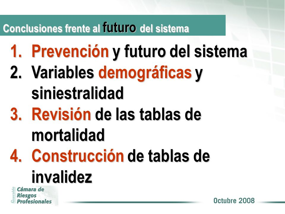 Prevención y futuro del sistema