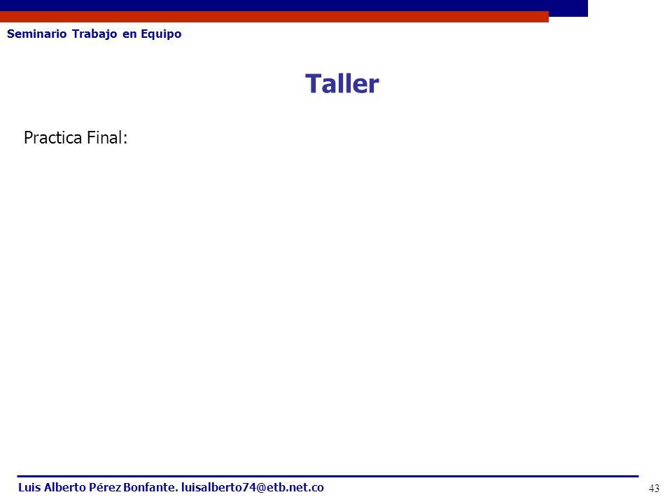 Taller Practica Final: