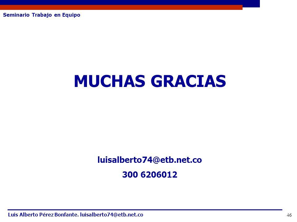 MUCHAS GRACIAS luisalberto74@etb.net.co 300 6206012