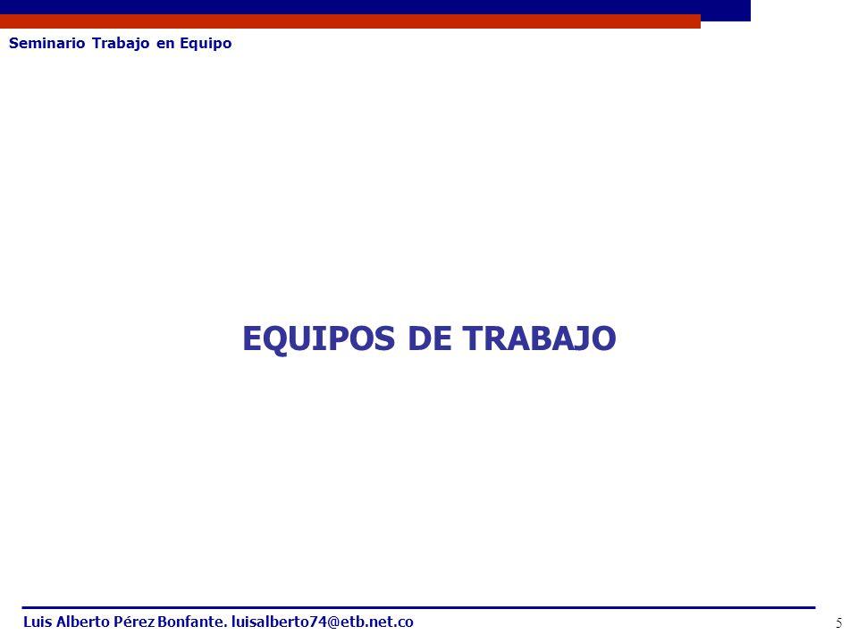 EQUIPOS DE TRABAJO