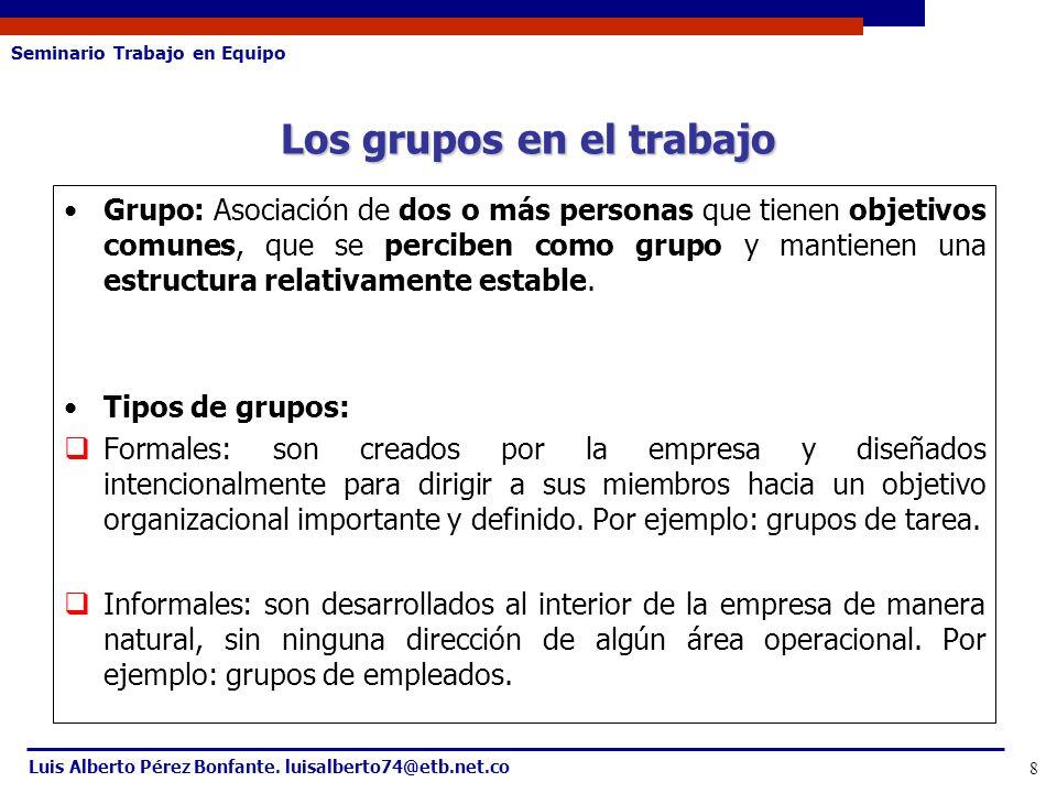 Los grupos en el trabajo