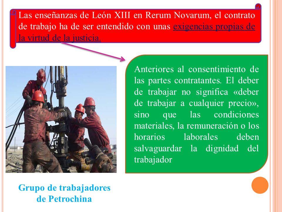 Grupo de trabajadores de Petrochina