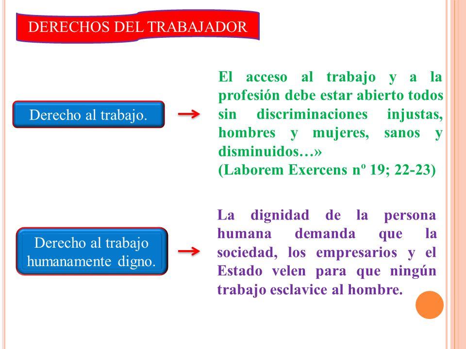 DERECHOS DEL TRABAJADOR