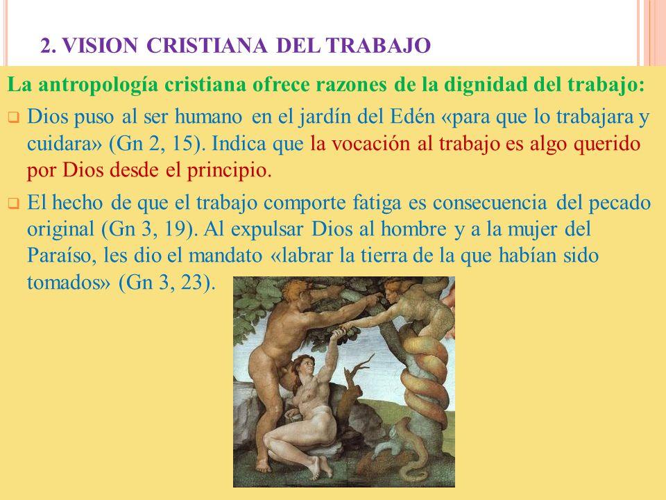 2. VISION CRISTIANA DEL TRABAJO