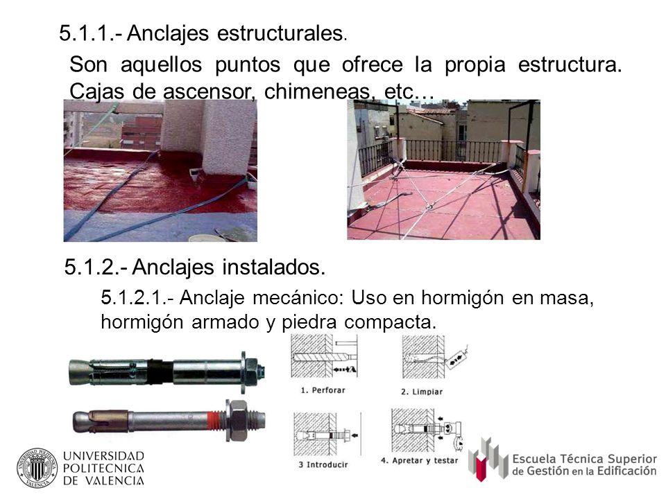 5.1.1.- Anclajes estructurales.