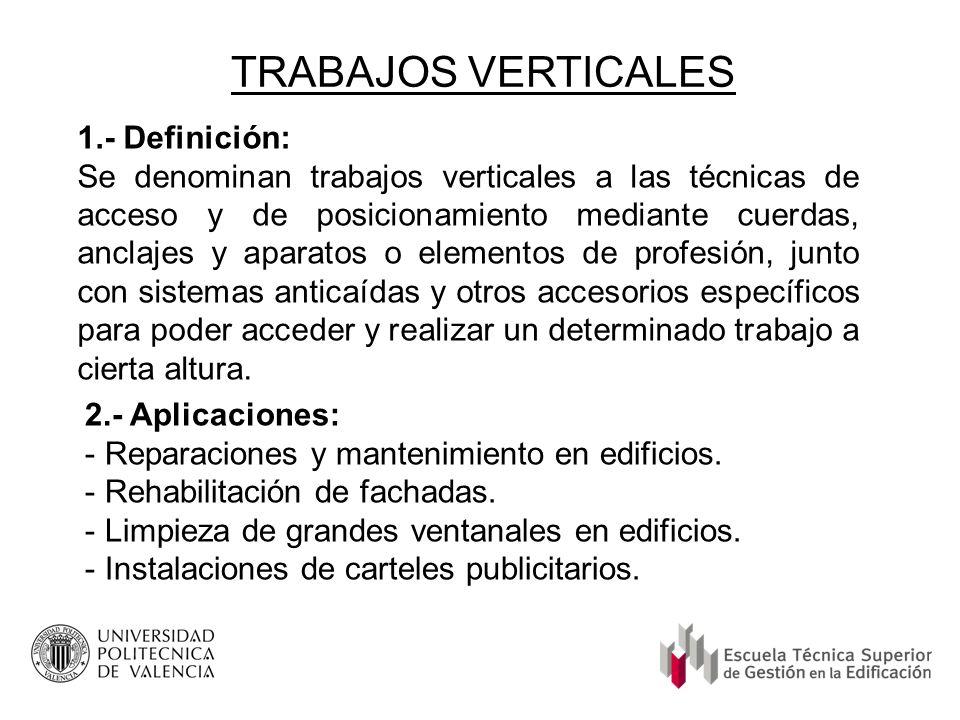 TRABAJOS VERTICALES 1.- Definición: