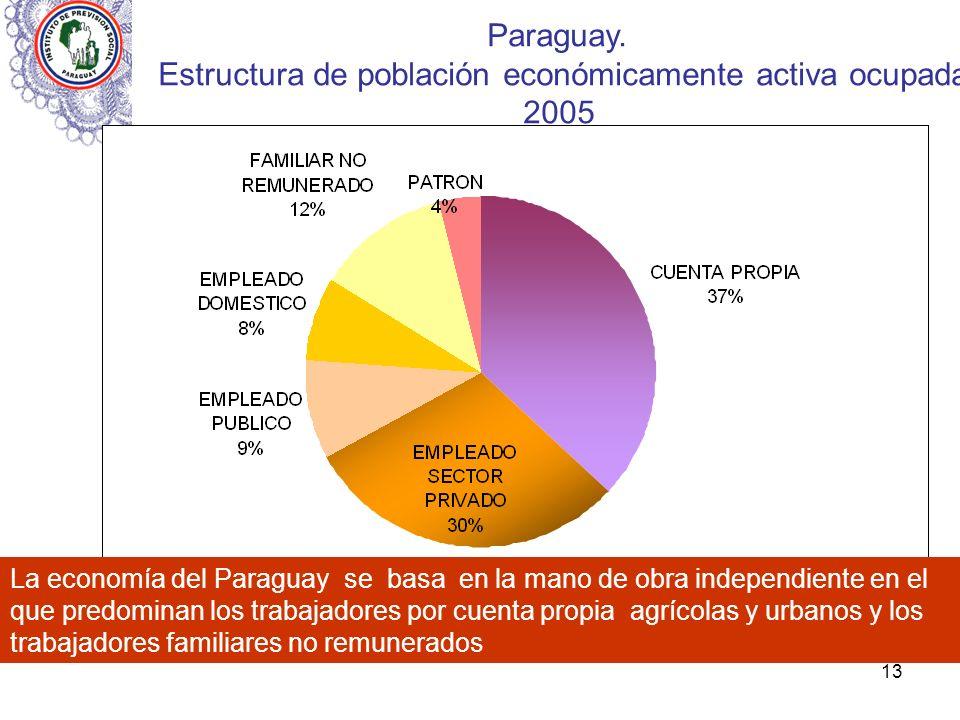 Estructura de población económicamente activa ocupada