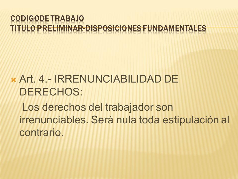 CODIGODE TRABAJO TITULO PRELIMINAR-DISPOSICIONES FUNDAMENTALES