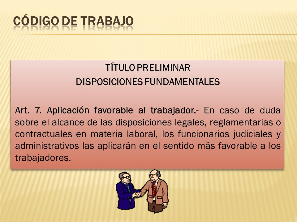 CÓDIGO DE TRABAJO
