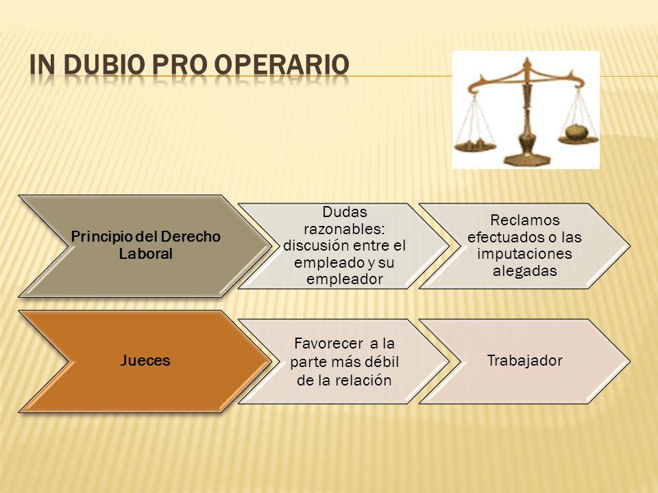Principio del Derecho Laboral