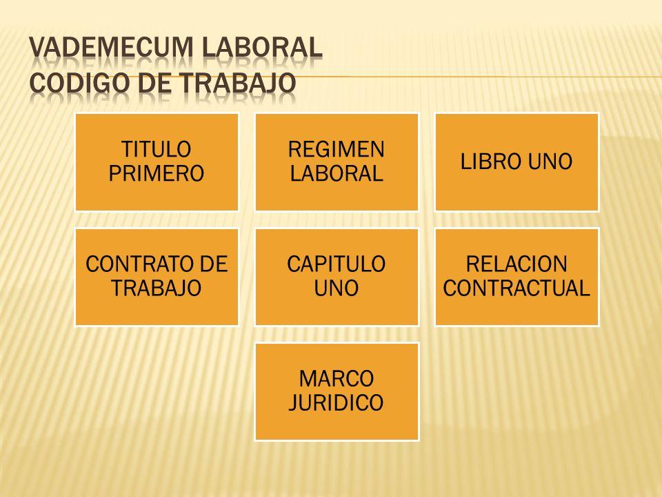 VADEMECUM LABORAL CODIGO DE TRABAJO
