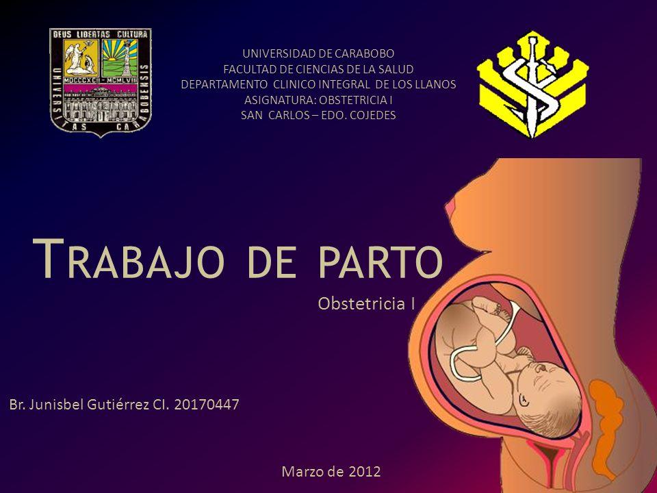 Trabajo de parto Obstetricia I Br. Junisbel Gutiérrez CI. 20170447