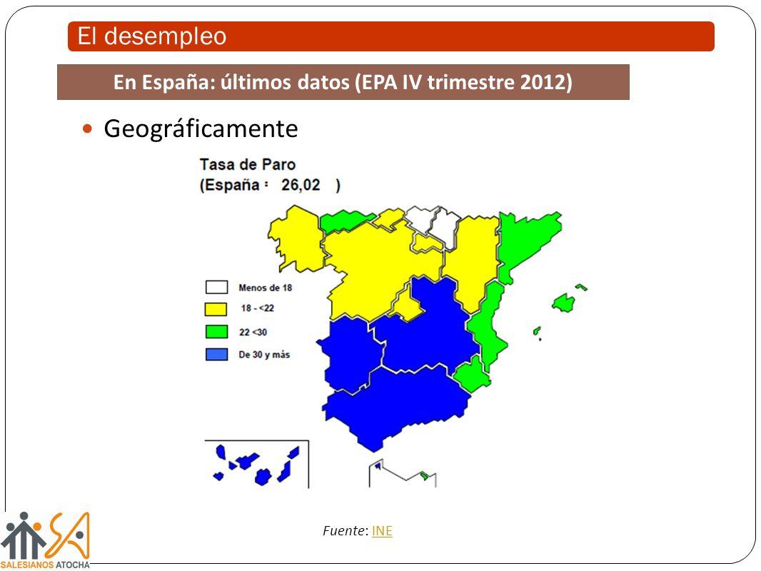 En España: últimos datos (EPA IV trimestre 2012)