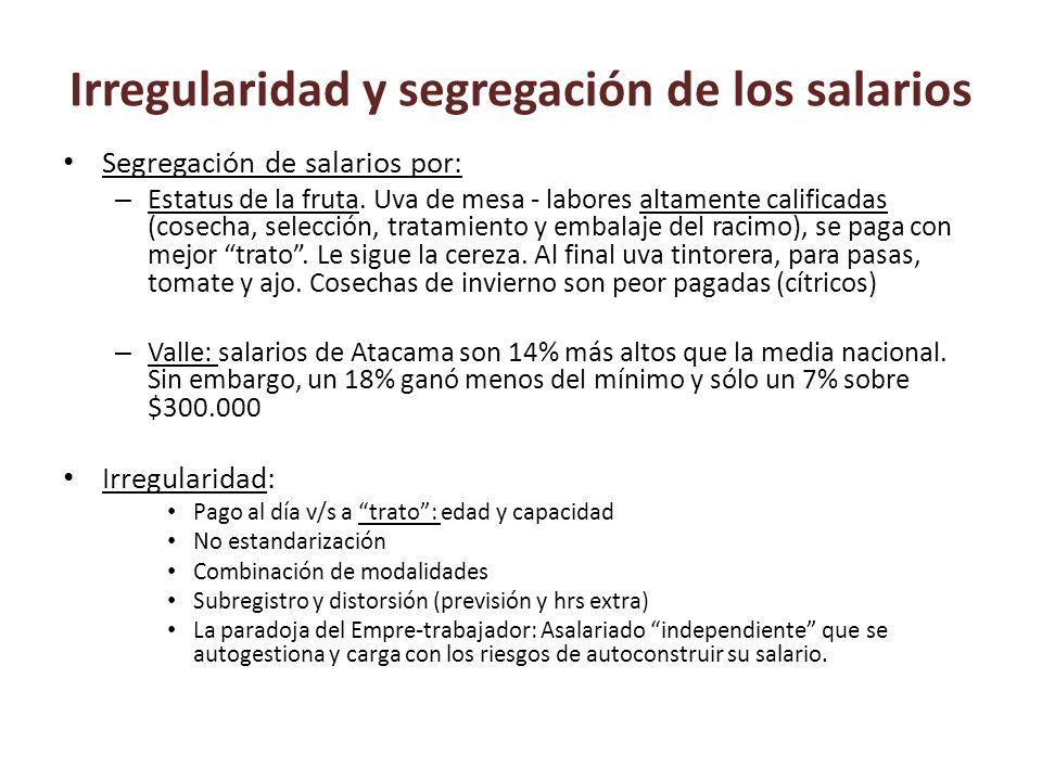 Irregularidad y segregación de los salarios