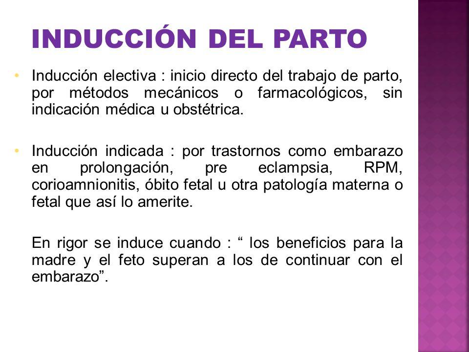 INDUCCIÓN DEL PARTO