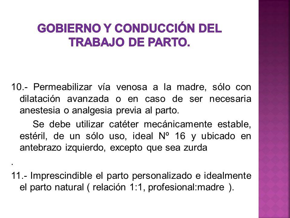 Gobierno y Conducción del Trabajo de Parto.