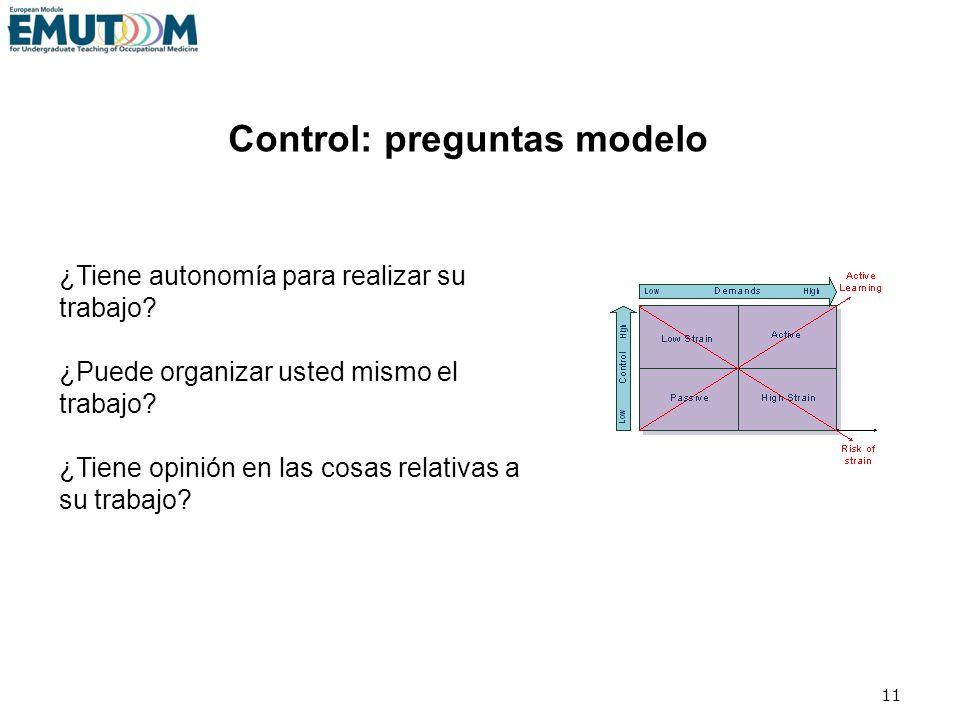 Control: preguntas modelo