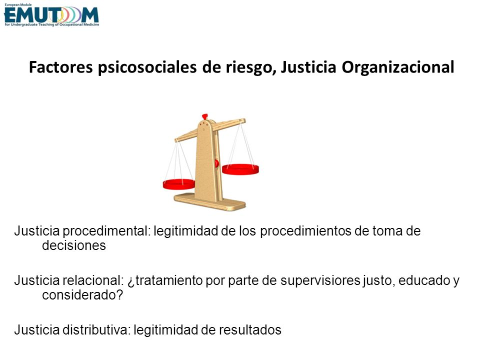 Factores psicosociales de riesgo, Justicia Organizacional