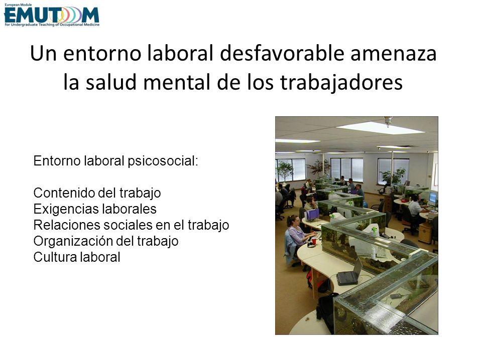Un entorno laboral desfavorable amenaza la salud mental de los trabajadores
