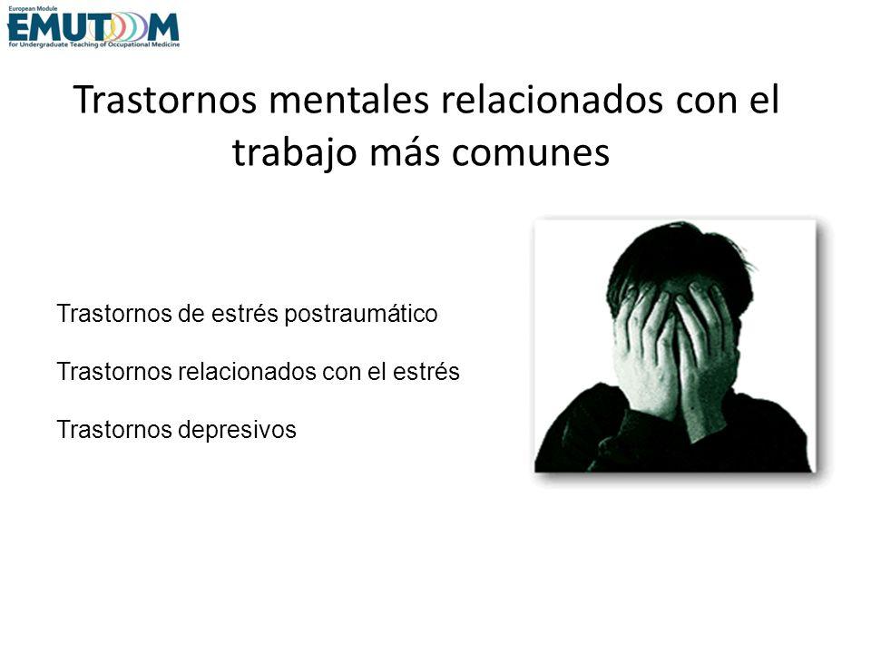 Trastornos mentales relacionados con el trabajo más comunes