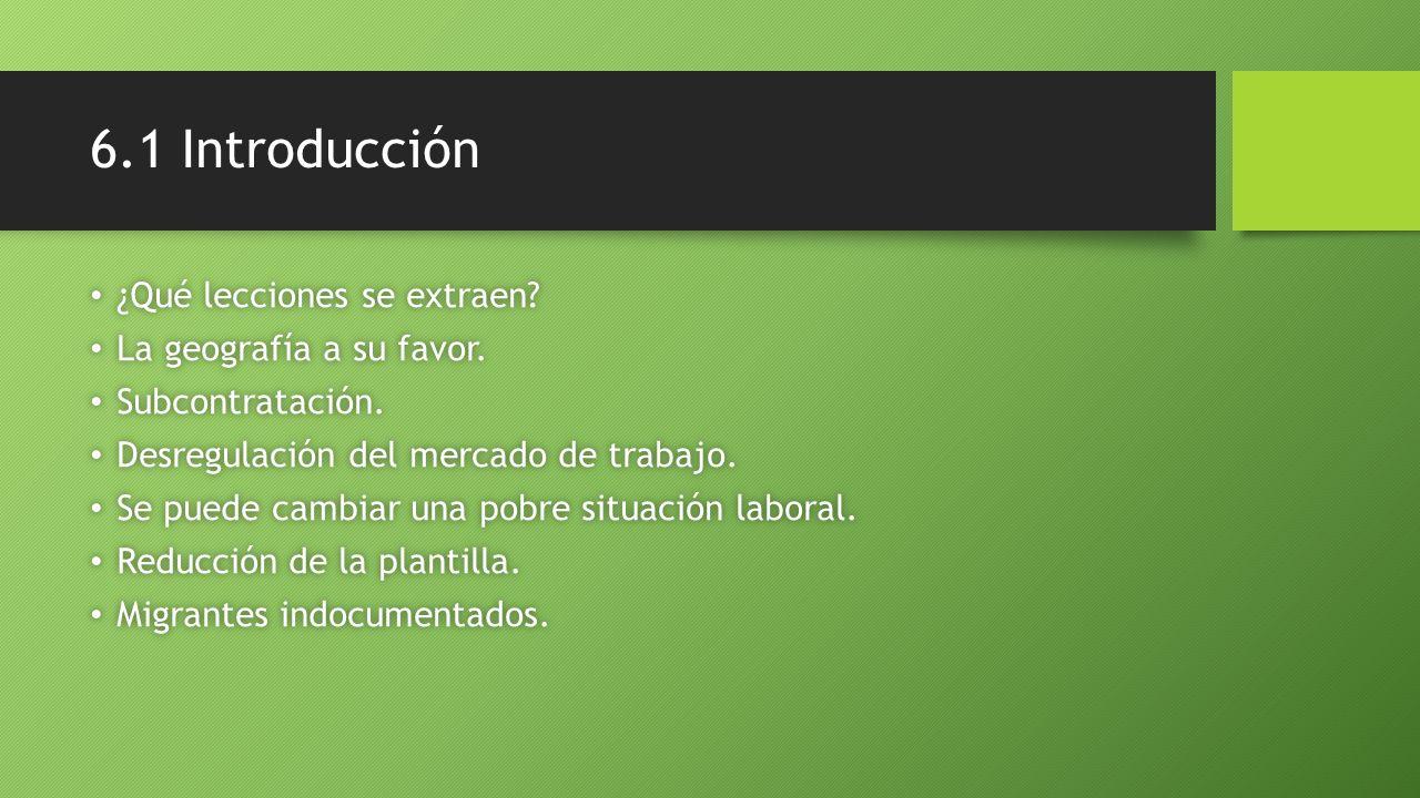 6.1 Introducción ¿Qué lecciones se extraen La geografía a su favor.