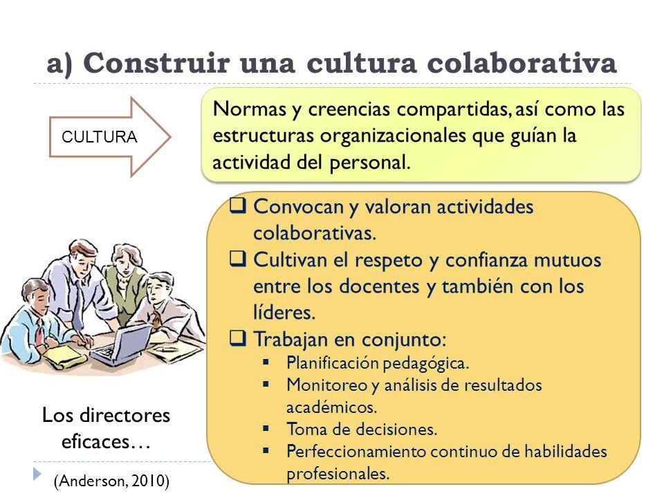 a) Construir una cultura colaborativa