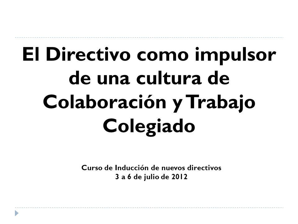 Curso de Inducción de nuevos directivos