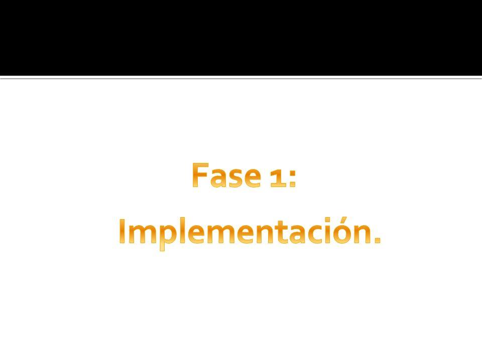 Fase 1: Implementación.