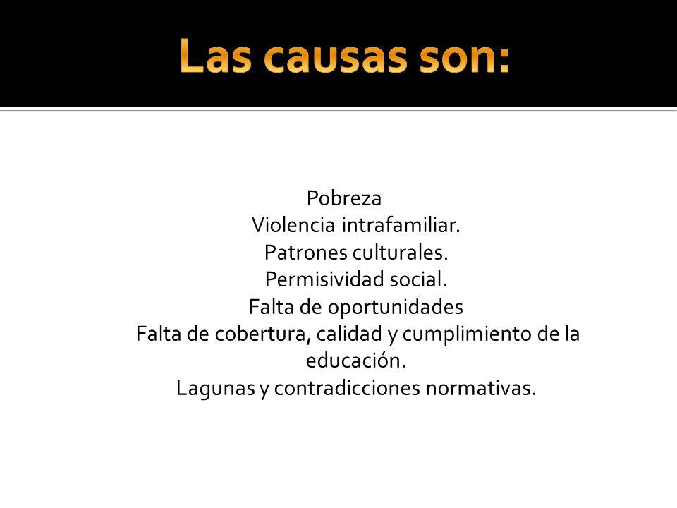 Las causas son: