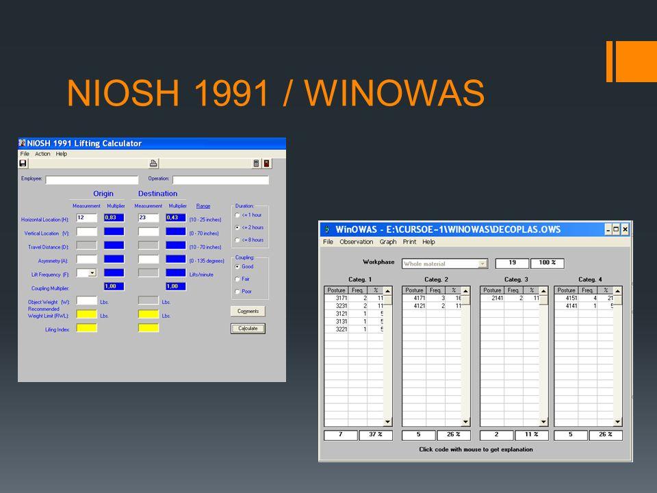 NIOSH 1991 / WINOWAS