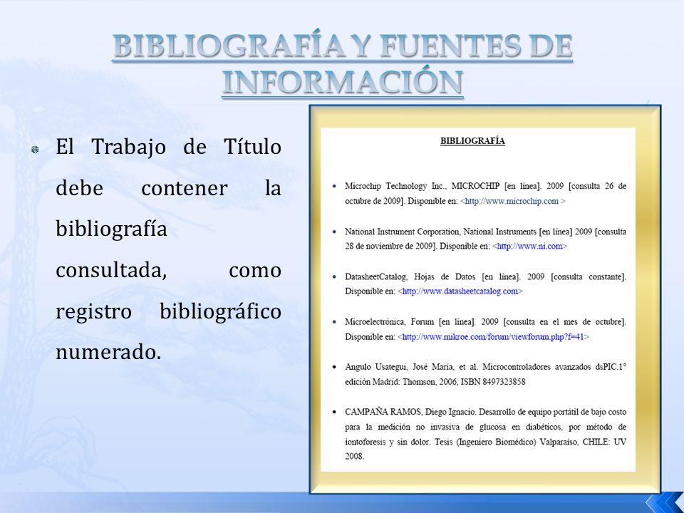 BIBLIOGRAFÍA Y FUENTES DE INFORMACIÓN