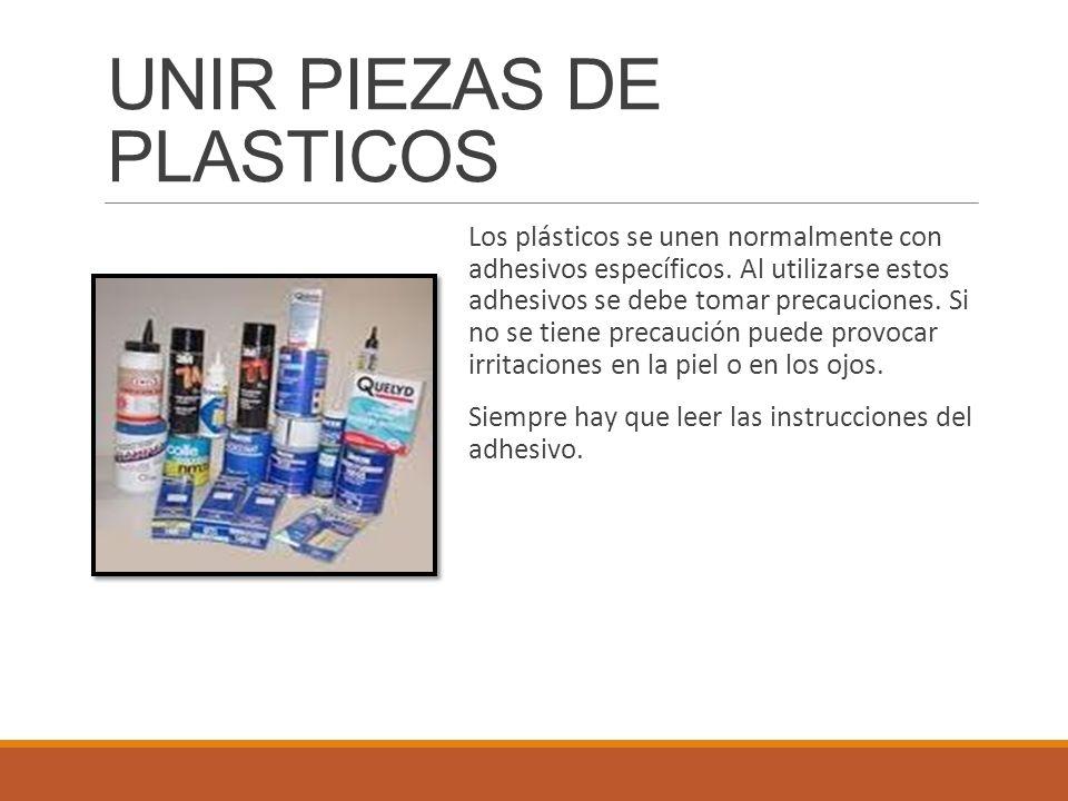 UNIR PIEZAS DE PLASTICOS