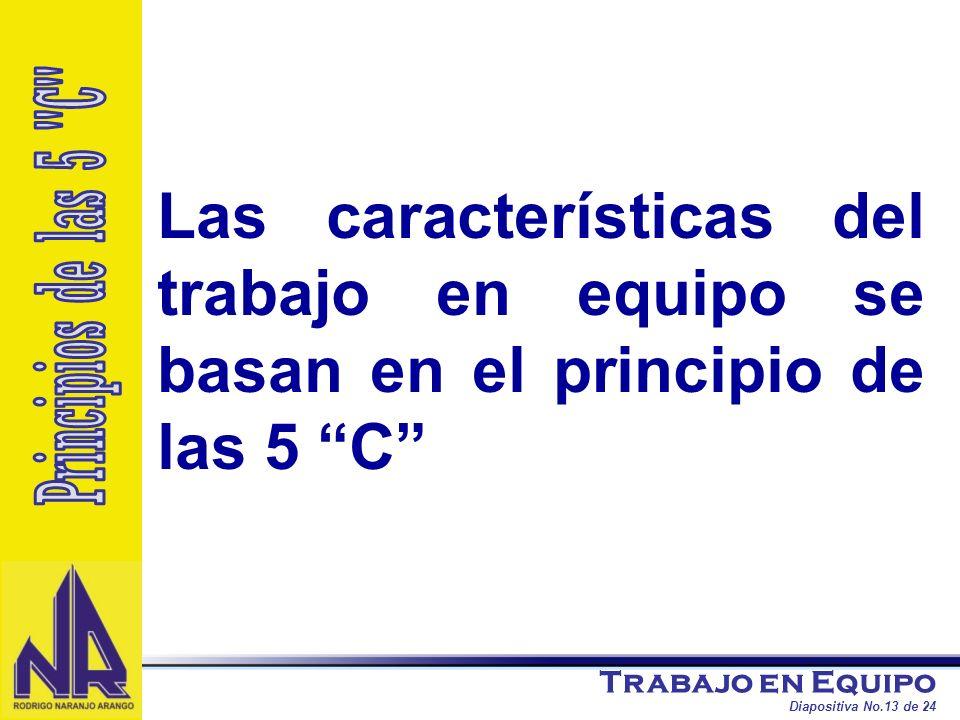 Las características del trabajo en equipo se basan en el principio de las 5 C